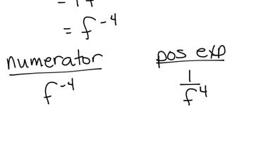 Algebra 1 Outcome 10 Lesson 3 Zero And Negative Exponents