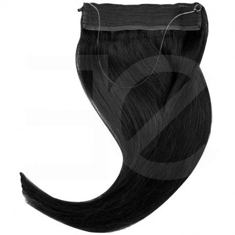 extension cheveux swift naturelle remy hair raide noir 50 cm