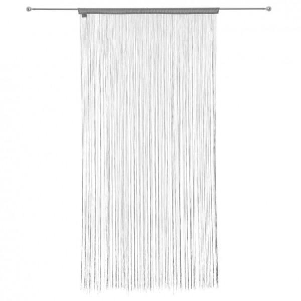 rideau de fil 90 x h200 cm uni gris