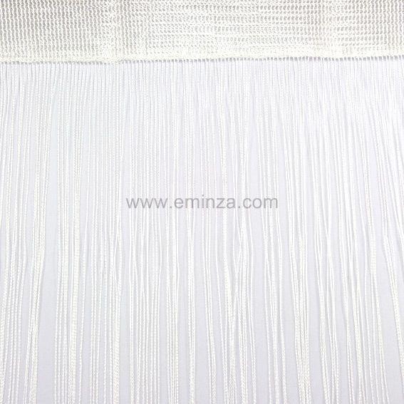 rideau fils blanc
