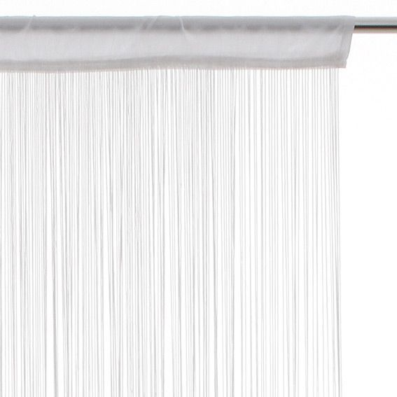 rideau de fil 120 x h240 cm uni blanc