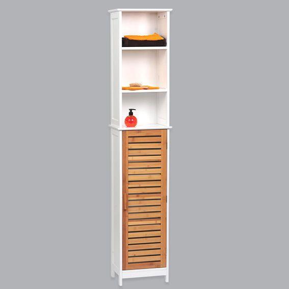 meuble colonne salle de bain bakou bois bambou
