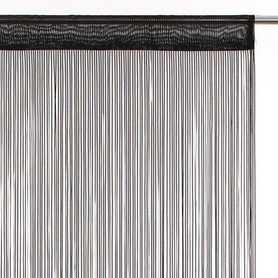 rideau de fil 90 x h200 cm ruban noir