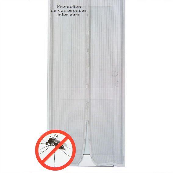 rideau de porte moustiquaire 100 x h220 cm aimante gris