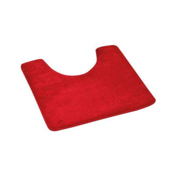 tapis contour wc microfibre simply rouge