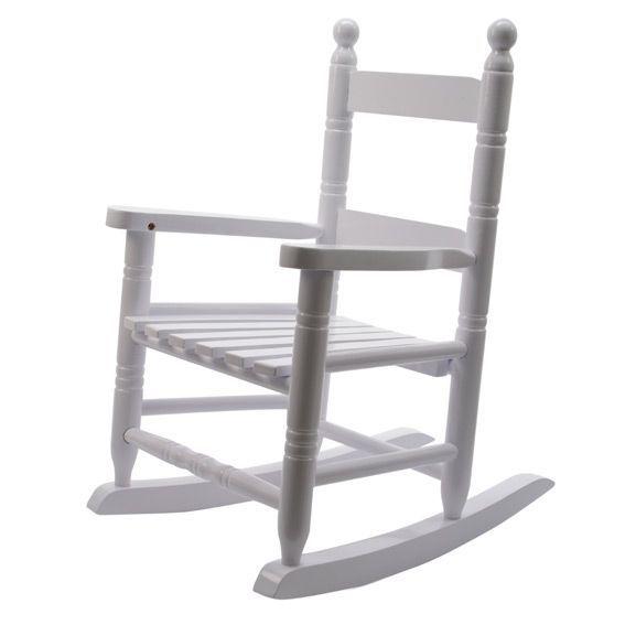 fauteuil a bascule pour enfant blanc