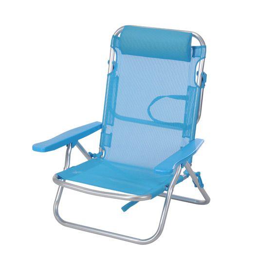 fauteuil de plage wenga bleu