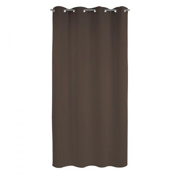 rideau thermique 140 x h240cm attila chocolat