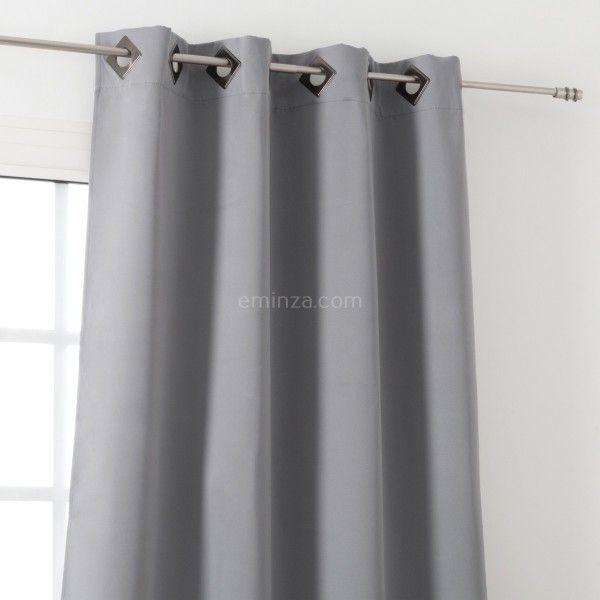 rideau occultant 135 x h180 cm cocoon gris clair
