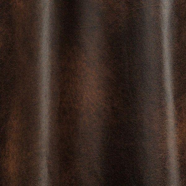 rideau tamisant 140 x h260 cm imitation cuir chocolat