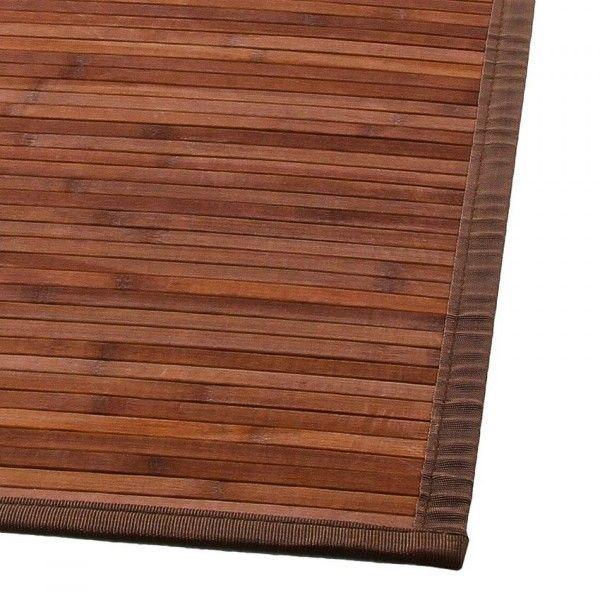 bambusteppich 170 cm braun