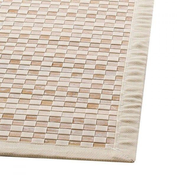 tapis bambou 170 cm damier ecru