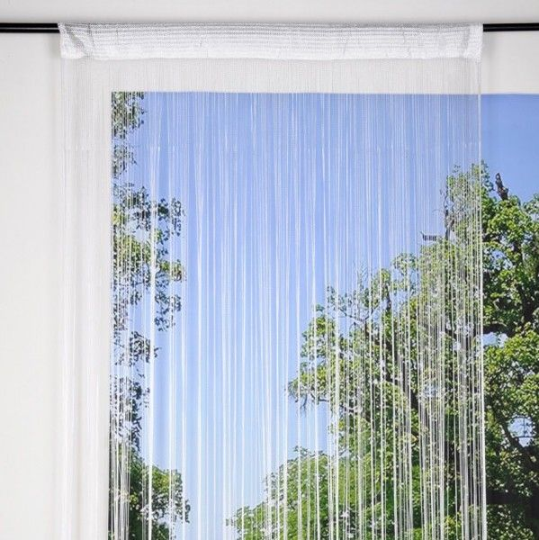 rideau de fil 90 x h200 cm mahe blanc