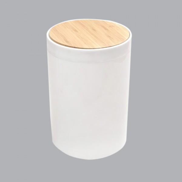 Poubelle Bambou Precieux Accessoire Salle De Bain Eminza