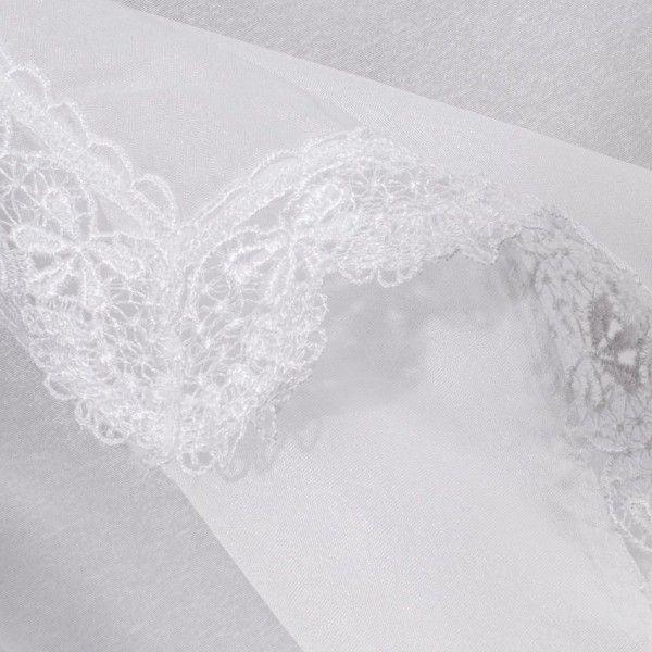 paire de voilages bonne femme 65 x 200 macrame blanc