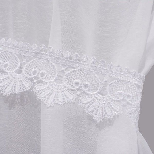 paire de voilage bonne femme 95 x 160 cm macrame agatha blanc