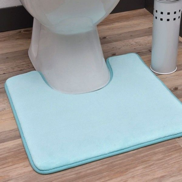tapis contour wc uni vert d eau