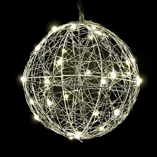 Boule lumineuse Hoya Blanc chaud 30 Micro LED  Dcoration lumineuse  Eminza
