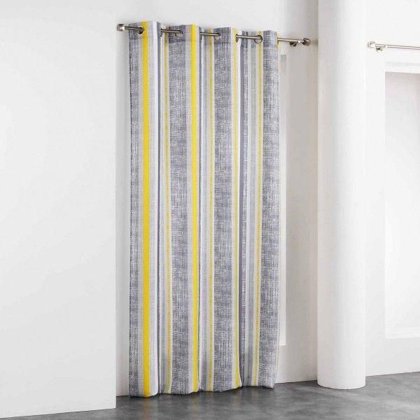 rideau tamisant 140 x 260 cm initio jaune