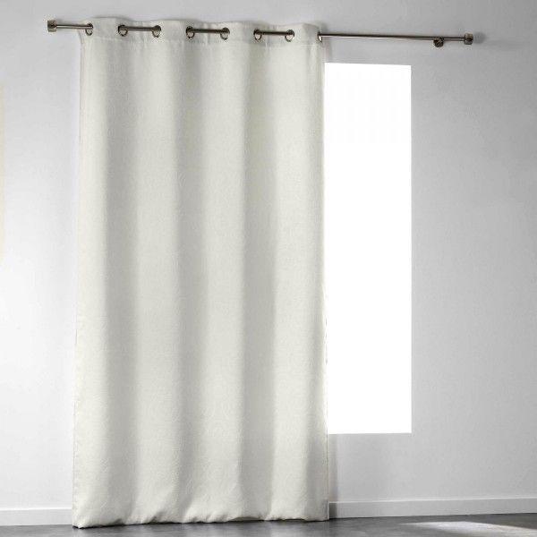 rideau occultant 140 x 240 cm velours noctua blanc