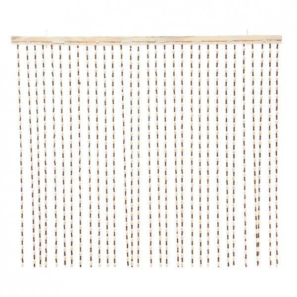 rideau de porte 90 x 200 cm perles naya bois