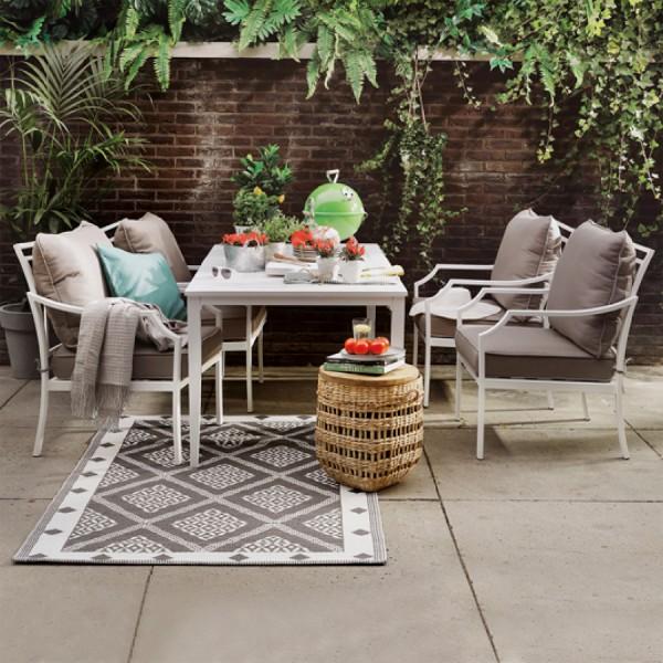 table de jardin aluminium venice blanc