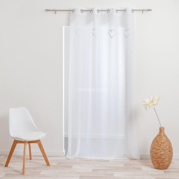 rideau tamisant 140 x 240 cm doumis blanc