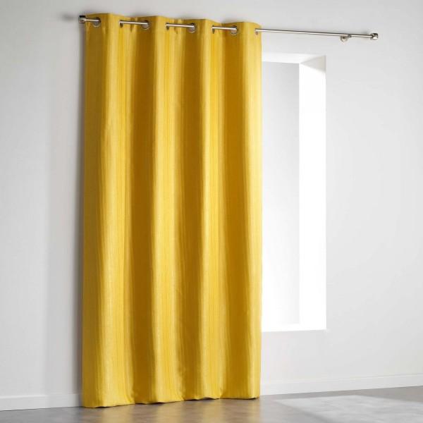 rideau occultant 140 x 240 cm paleo jaune