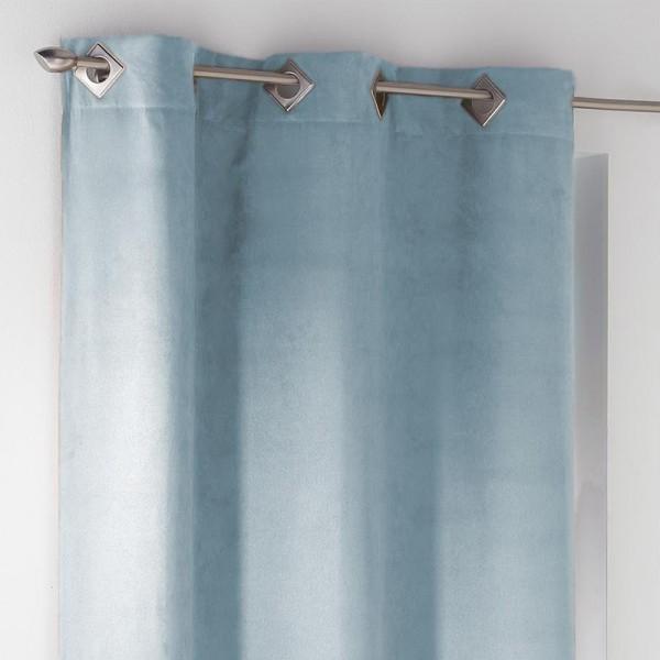rideau tamisant 140 x 240 cm suede bleu ciel