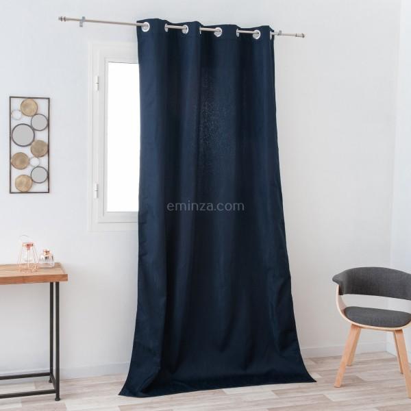 rideau obscurcissant isolant 140 x 260 cm avoriaz bleu marine