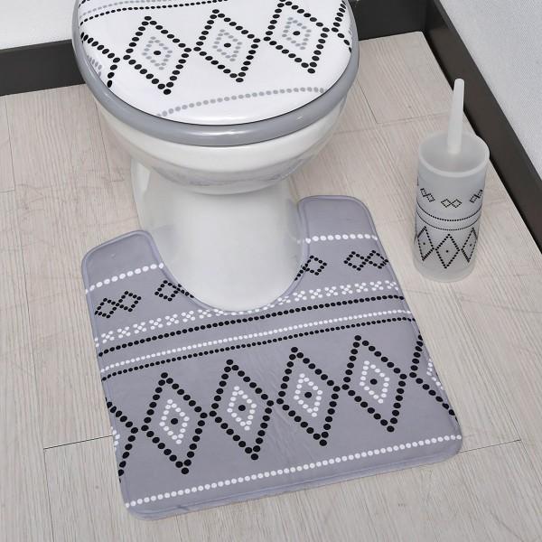 tapis contour wc nairobi gris