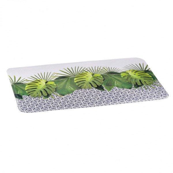 tapis de bain jungle vert