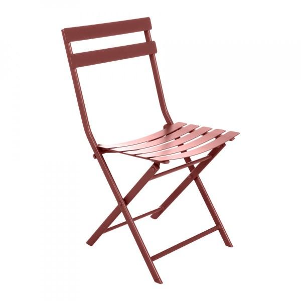 chaise de jardin pliante greensboro orange terracotta