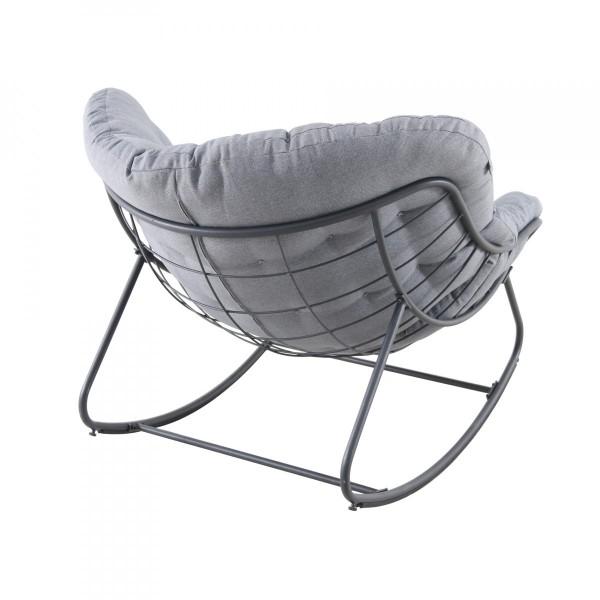 fauteuil de jardin a bascule paopao gris graphite