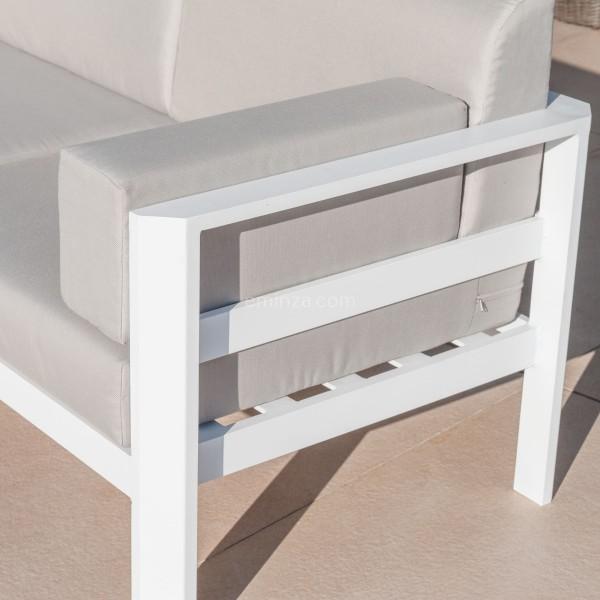 salon de jardin d angle 6 places ostara blanc