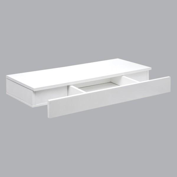 etagere murale tiroir blanche