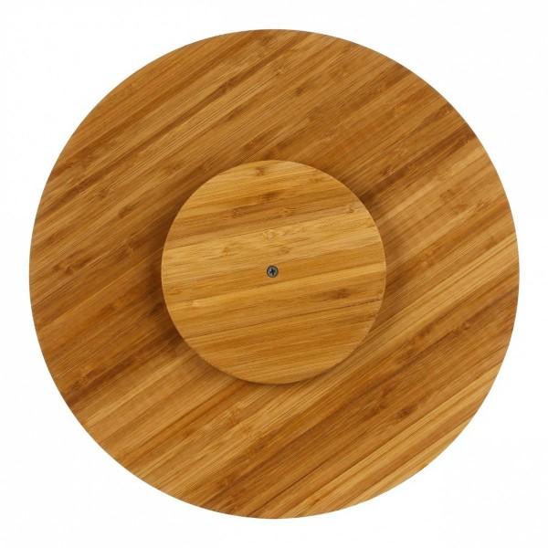 plateau tournant gourmet bois