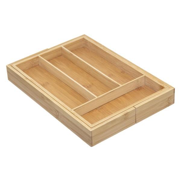 range couverts bambou extensible bois