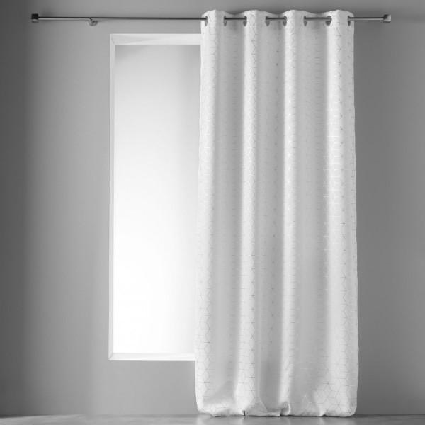 rideau occultant 135 x 240 cm optic blanc