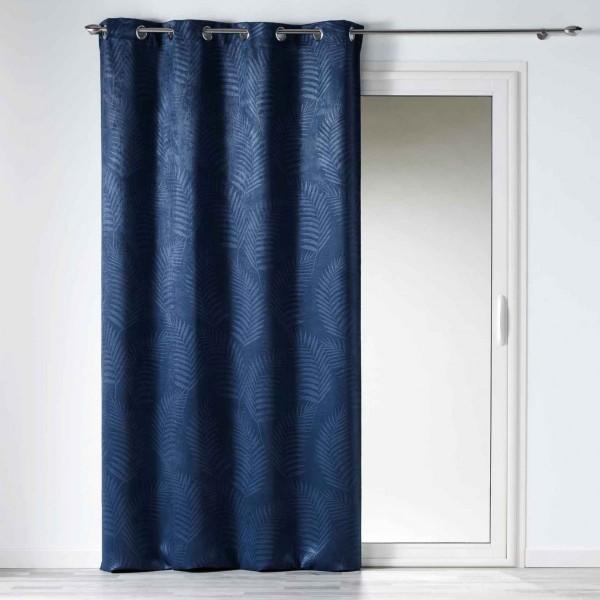 rideau occultant 140 x 240 cm tropicaline bleu indigo