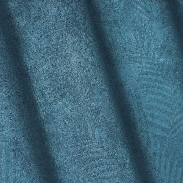 rideau occultant 140 x 240 cm tropicaline bleu petrole