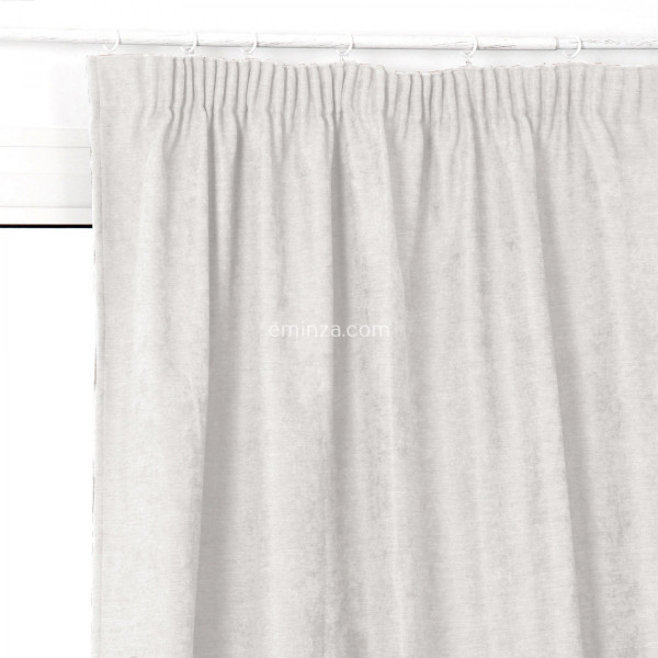 rideau occultant isolant 140 x h240 cm alaska fronceur blanc