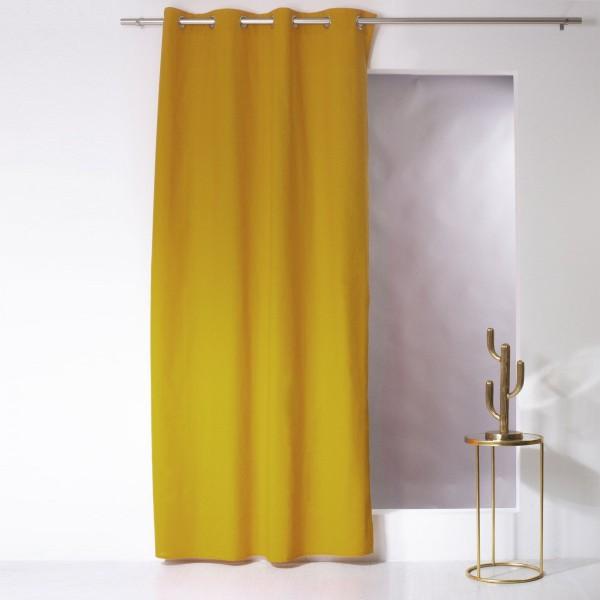 rideau tamisant 135 x 240 cm etna jaune moutarde