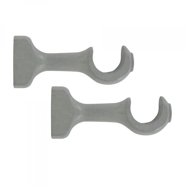 lot de 2 supports ouverts bois l115 d28 mm gris