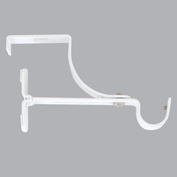 support a tringle pour caisson de volet roulant l135 d20 mm blanc satine