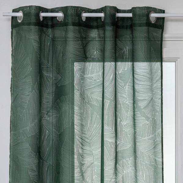 voilage 140 x 240 cm feuille vert cedre