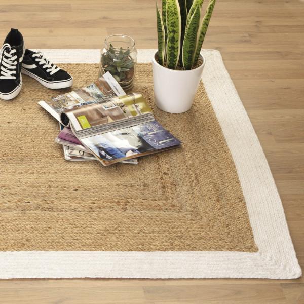tapis jute 170 cm meryl blanc