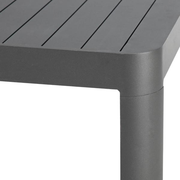 table de jardin aluminium paradize 220 x 120 cm gris graphite