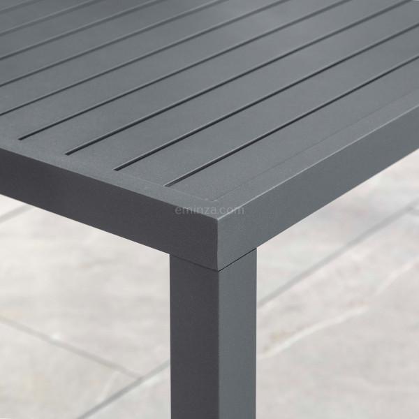 table de jardin 8 places aluminium murano 136 x 136 cm gris anthracite
