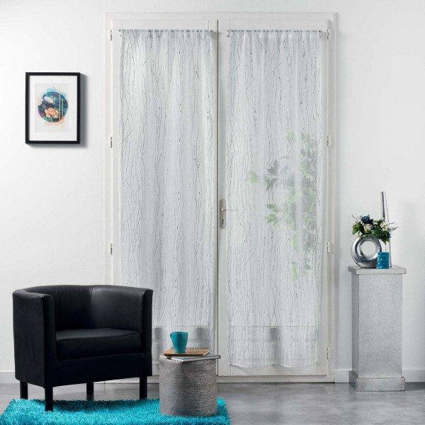 paire de voilages 70 x 200 cm filiane blanc